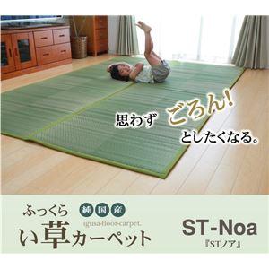純国産 い草花ござ 『STノア』 グリーン 江戸間10畳(約435×352cm)(裏:ソフトテック15mm)