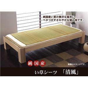 純国産 い草のシーツ(寝ござ) 『清風』 ベージュ シングル約88×180cm - 拡大画像