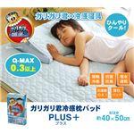 冷感 枕パッド 洗える 『ガリガリ君 プラス』 40×50cm(中綿=抗菌・防臭)