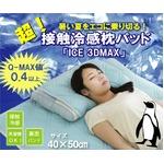 超接触冷感 枕パッド 洗える 『ICE 3DMAX』 ブルー 40×50cm