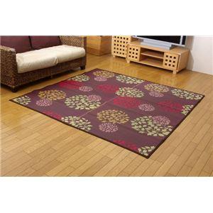 純国産 袋織い草カーペット 『ハナガラ』 ボルドー 140×200cmの詳細を見る