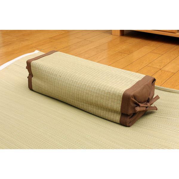 おしゃれでシンプルな布団 高さが調節できる い草枕 『高さが変わる枕 い草 箱付』 40×15cm(中材:い草チップ)