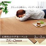 ふっくら 竹カーペット シンプル モダン 『DXクィーン』 アイボリー 180×240cm