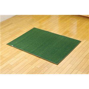 純国産 無地カラーい草ラグカーペット 『Fプラード』 ダークグリーン 95×130cmの詳細を見る