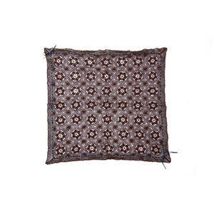 手編みこたつ用上掛けカバー(サロン)単品『エミリア』ブラウン110×110cm