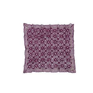 手編みこたつ用上掛けカバー(サロン)単品『エミリア』パープル110×110cm