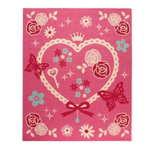 デスクカーペット 女の子 エハート柄 『キャリー ツー』 ピンク 110×133cmの詳細を見る