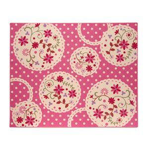 デスクカーペット 女の子 花柄 『パミュ ツー』 ピンク 110×133cmの詳細を見る