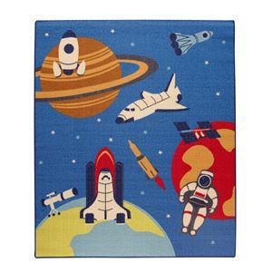 デスクカーペット 男の子 宇宙柄 『スペース』 ブルー 133×170cmの詳細を見る