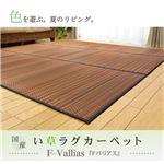 純国産/日本製 い草ラグカーペット 『Fバリアス』 グリーン 240×240cm(裏:ウレタン)