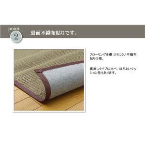 い草花ござカーペット 『DXアロマ 裏貼CP』 江戸間2畳(174×174cm) (裏:不織布)