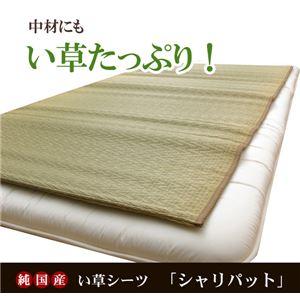 純国産 い草たっぷりシーツ(寝ござ) 『シャリパット』 シングル88×180cm リバーシブルタイプ - 拡大画像