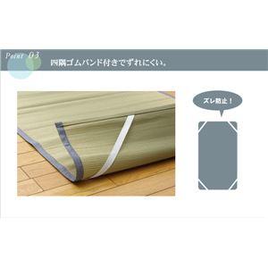 純国産 やわらかい草の敷きパッド 『デニム 素肌草 汗取P』 88×200cm