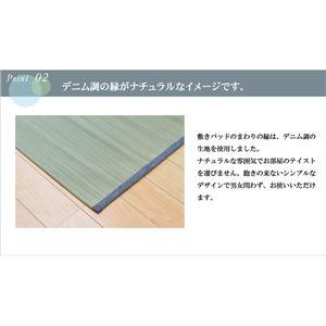 純国産 やわらかい草の敷きパッド 『デニム 素肌草 ベビー汗取P』 70×120cm