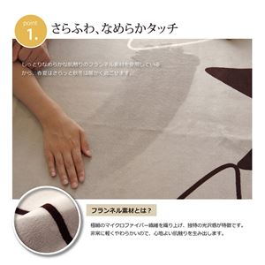 ラグマット カーペット 2畳 洗える 花柄 リーフ柄 『WSパキラ』 グリーン 約185×185cm (ホットカーペット対応)