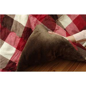 洗える こたつ布団 長方形 単品 薄掛けタイプ 『ジャーナル』 ローズ 約190×240cm