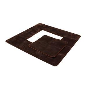 堀りごたつ対応ラグマット3畳無地『Hフランアイズ堀』ブラウン約200×250cm(くり抜き部約90×120cm)ホットカーペット可