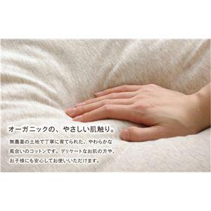 布団カバー 無地 洗える オーガニックコットン使用 『マドラス 敷布団カバー』 ブラウン ダブル 約140×210cm