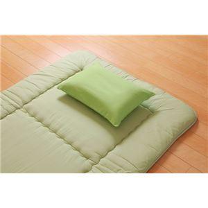 枕カバー洗えるヒバエッセンス使用『ひばピロケース』グリーン約28×39cm