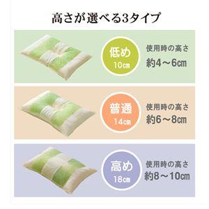 ピロー 枕 高さを選べる ヒバエッセンス使用 『森の眠りひば枕A』 約43×63×18cm 高め