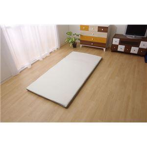 敷布団セミシングル寝具洗える無地高反発『V-lapプレミアム』約80×200cm
