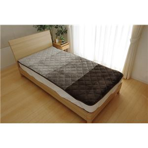 敷きパッド シングル 洗える 寝具 『ベレッサ』 ブラウン 約100×205cm