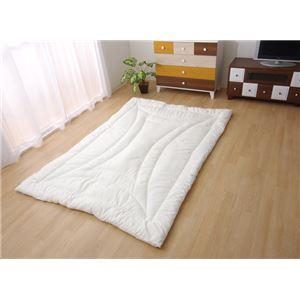 掛け布団 シングル 寝具 温度調整 素材 『アウトラスト』 アイボリー 約150×210cm  - 拡大画像