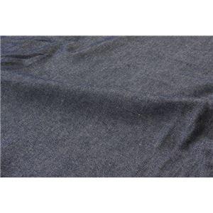 綿100% デニム風 ボックスシーツ 『レスリーBOX敷きカバー』 シングル 約100×200+30cm