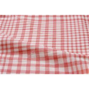 布団カバー 洗える チェック柄 『サプリ 掛け布団カバー』 ピンク シングル 約150×210cm