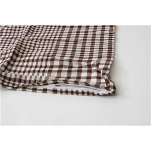 布団カバー 洗える チェック柄 『サプリ 敷布団カバー』 ブラウン セミダブル 約125×215cm