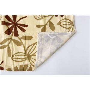 布団カバー 洗える 花柄 リーフ柄 『ルイード 掛け布団カバー』 ブラウン シングル 約150×210cm