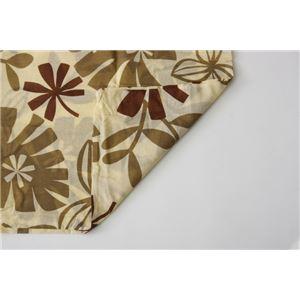布団カバー 洗える 花柄 リーフ柄 『ルイード 敷布団カバー』 ブラウン セミダブル 約125×215cm