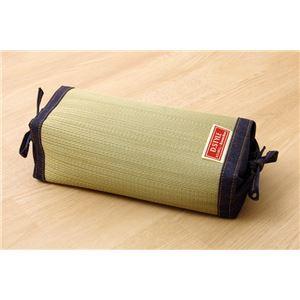 枕 まくら い草枕 消臭 ピロー 国産 デニム 高さ調整 『マイル 角枕 』 約30×15cm 中材:ポリエチレンパイプ - 拡大画像