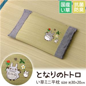 枕 まくら い草枕 消臭 ピロー 国産 ベビー キッズ となりのトトロ 『トトロ 木いちご ミニ平枕』 約30×20cm