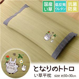枕 まくら い草枕 消臭 ピロー 国産 となりのトトロ 『トトロ 木いちご 平枕』 約50×30cm - 拡大画像