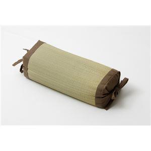 枕 まくら い草枕 消臭 ピロー 国産 無地 高さ調整 『モデル 角枕』 ブラウン 約30×15cm - 拡大画像