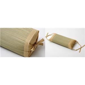 枕 まくら い草枕 消臭 ピロー 国産 無地 高さ調整 『モデル 角枕』 ベージュ 約30×15cm