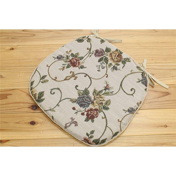 クッション バテイ 花柄 エレガンス 『モーリア』 アイボリー 約45×43cm 4枚組