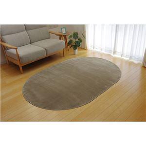 ラグマットカーペット2畳洗える抗菌防臭無地『ピオニー』ブラウン約185×185cm(ホットカーペット対応)