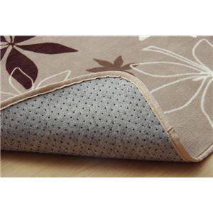 ラグマット カーペット 2畳 洗える 抗菌 防臭 無地 『WSプランタ』 ブラウン 約185×185cm (ホットカーペット対応)