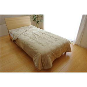 毛布 シングル 洗える 寝具 抗菌 消臭 無地 旭化成 トップサーモ 2枚合わせ毛布 『17フランIT』 ベージュ 約140×200cm