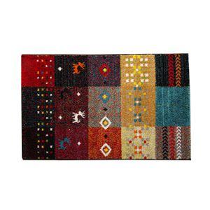玄関マット フロアマット トルコ製 ウィルトン織り 『フォリア』 レッド 約50×80cm