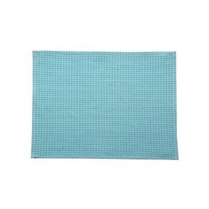 バスマットフロアマット洗える吸水速乾バリアフリーつまづきにくい『ワッフル』ブルー約35×50cm