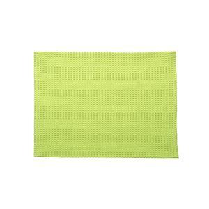 バスマット フロアマット 洗える 吸水 速乾 バリアフリー つまづきにくい 『ワッフル』 グリーン 約35×50cm