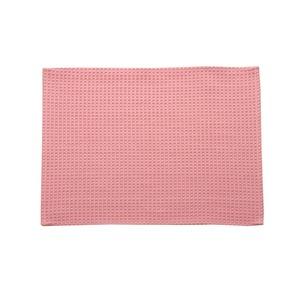 バスマット フロアマット 洗える 吸水 速乾 バリアフリー つまづきにくい 『ワッフル』 ピンク 約50×75cm