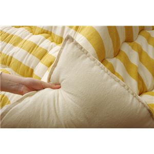 インド綿 こたつ布団 長方形 掛け単品 『ロカ』 イエロー 約205×245cm