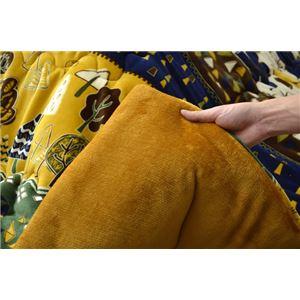 こたつ布団 正方形 掛け単品 洗える 北欧 調 撥水 機能付き 『マイン』 ブルー 約190×190cm