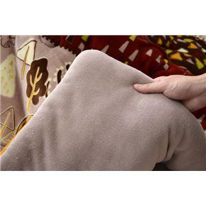こたつ布団 正方形 掛け単品 洗える 北欧 調 撥水 機能付き 『マイン』 レッド 約190×190cm