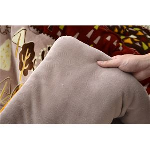 こたつ布団 長方形 掛け単品 洗える 北欧 調 撥水 機能付き 『マイン』 レッド 約190×240cm