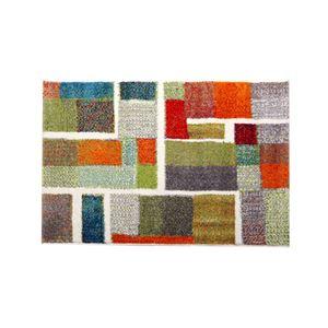 玄関マット トルコ製 ウィルトン織り 『エデン』 レッド 約70×120cm